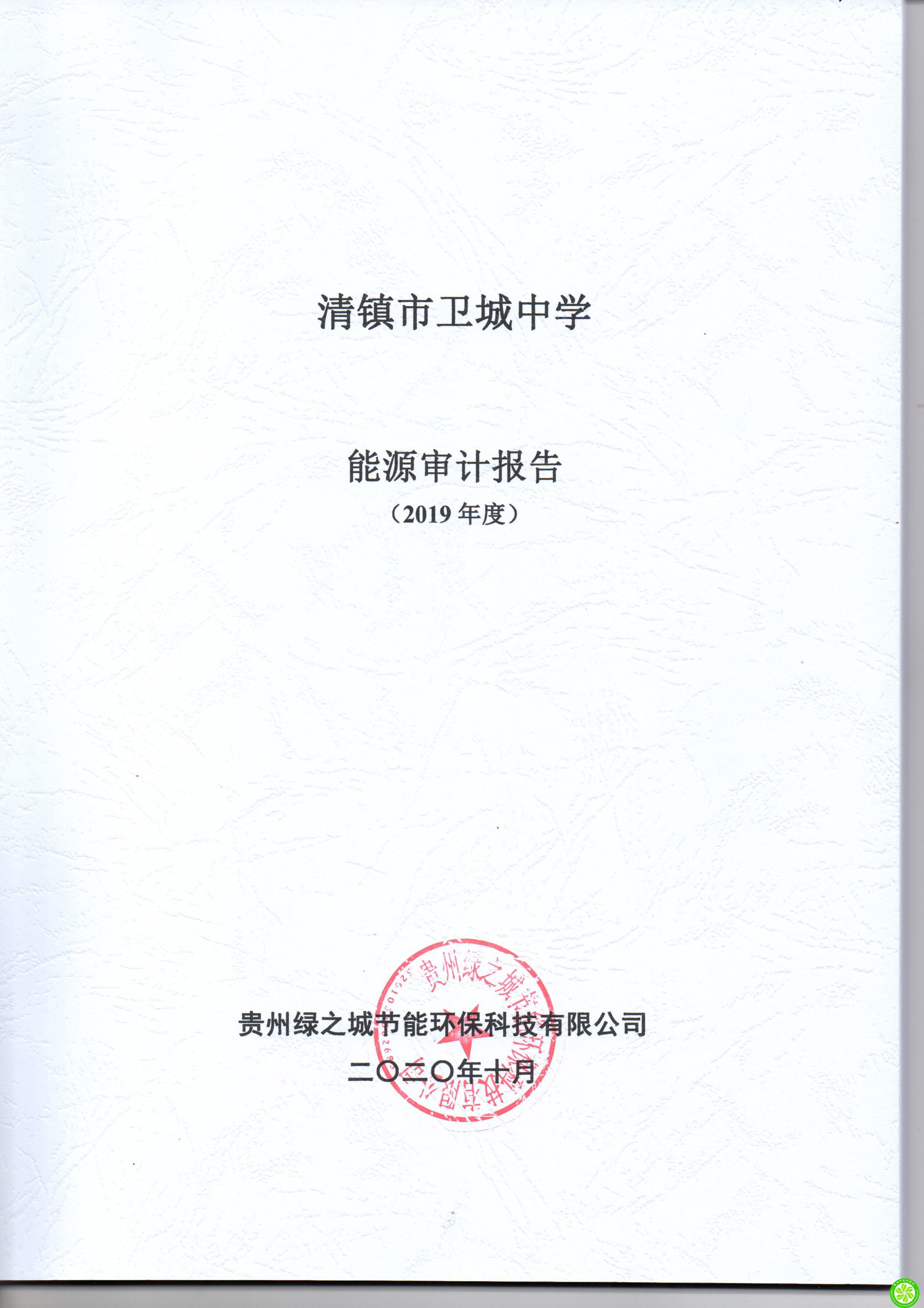 清镇市卫城中学2019年度能审计报告