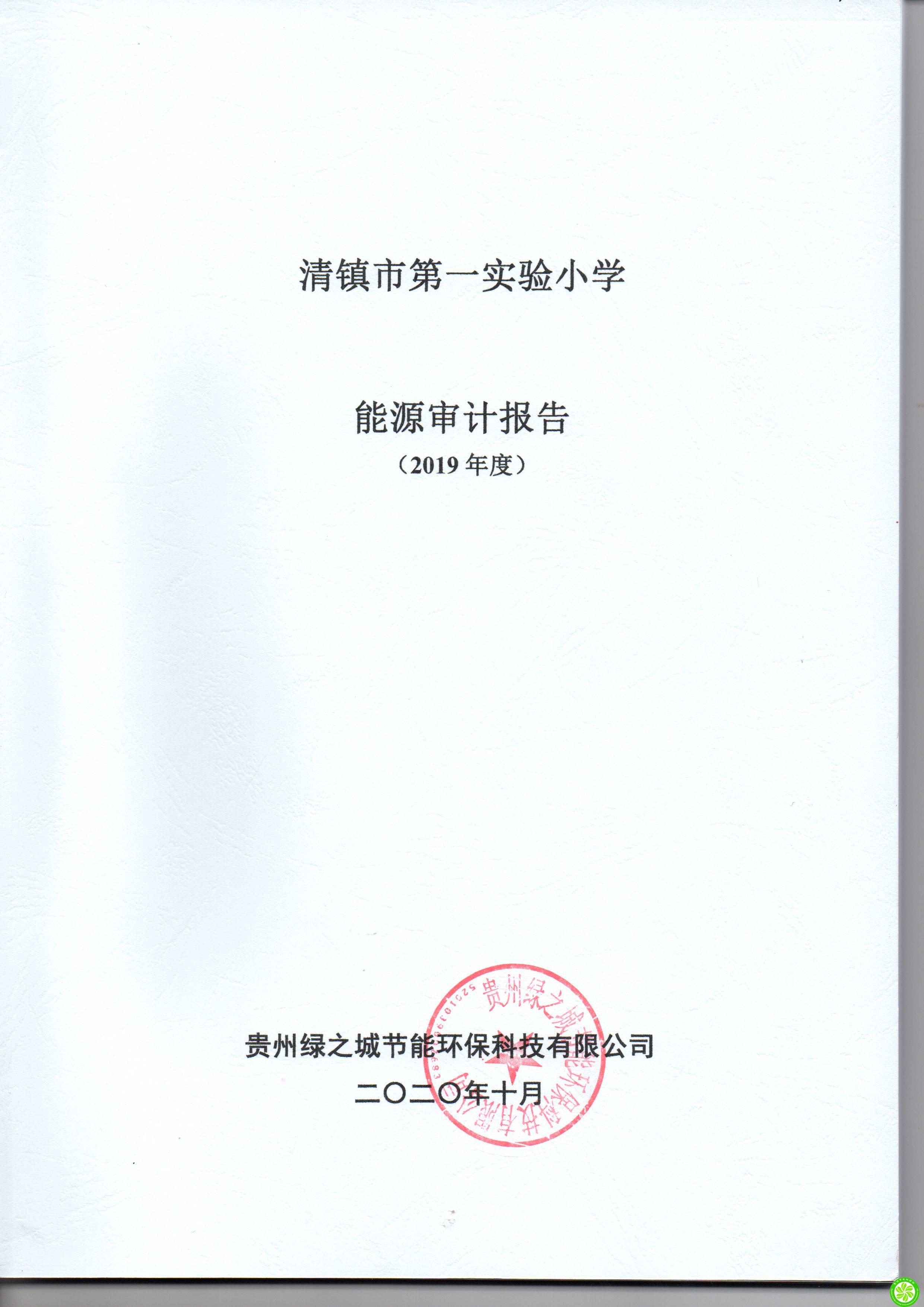 清镇市第一实验小学2019年度能审计报告